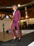 "Jubilee Hall of Residence hosted its 5th annual Charity Fashion Fundraiser, friday evening. Model, Thabang Mokoena helping Thabo to present his his collection ""Allegrezza"". Thabo's fine detailed range is hanged well the suit worn by Thabangs."