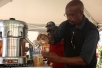 ALL ROUNDER: Ebrahim Ali making carrot juice, one of the new developments of his long time business. Photo Anelisa Tuswa